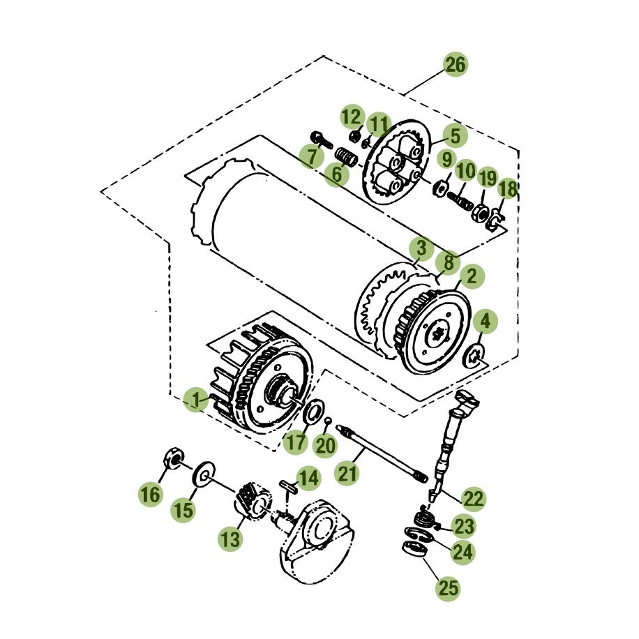 rr 4t 125cc 2015 primary gear cpl clutch beta motor