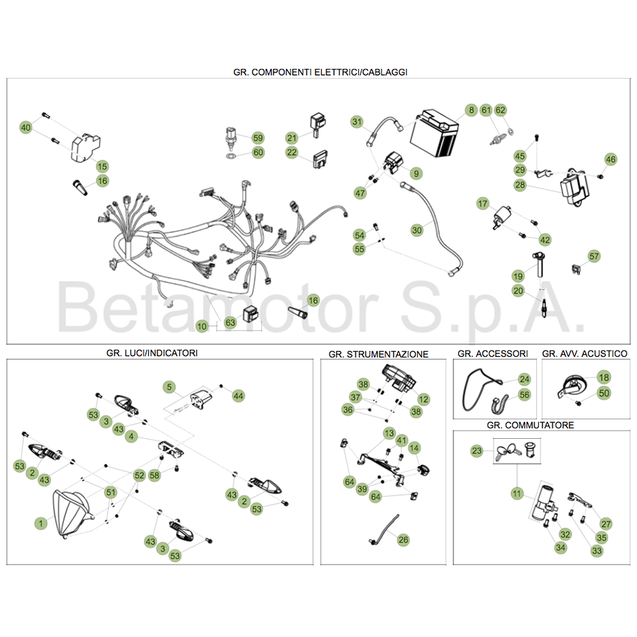 Rr 4t 125cc Lc 2017 Wiring Harness Beta Motor Clipart